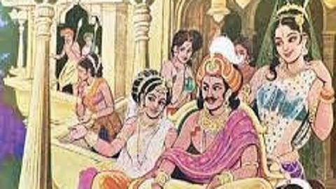 Jayadrath with wives